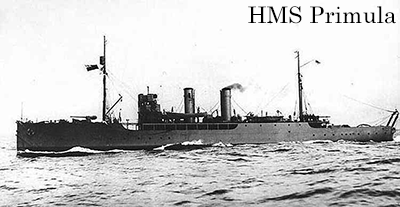 HMS Primula before being sunk by a torpedo