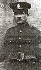 Portrait in uniform from newspaper