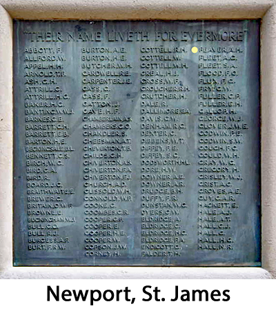 Newport, St James Memorial
