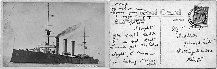 Postcard home from HMS Essex
