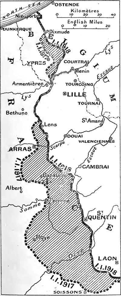 THe Western Front in stasis during 1917 and 1918