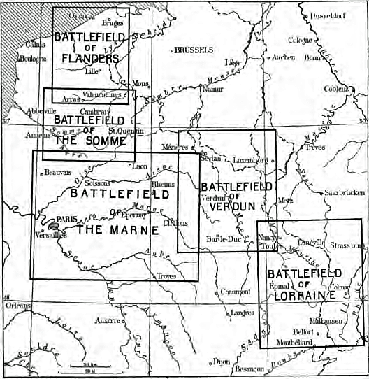 European Battlefields during World War 1