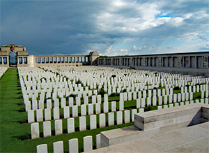 Pozieres Cemetery and monument