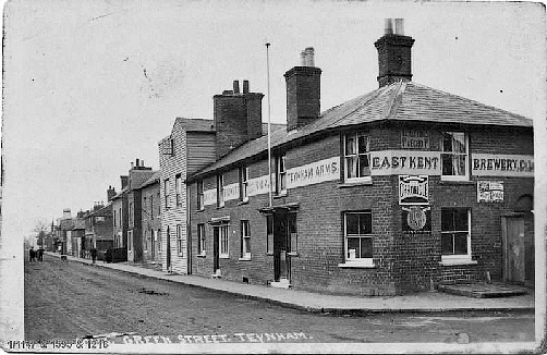 The Rose Inn just beyond the now demolished Teynham Arms